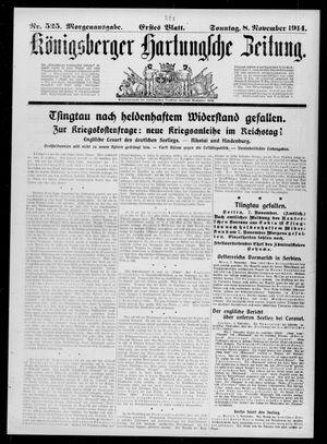 Königsberger Hartungsche Zeitung vom 08.11.1914
