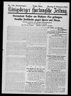 Königsberger Hartungsche Zeitung vom 09.11.1914