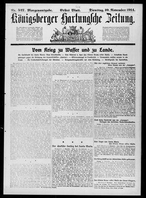 Königsberger Hartungsche Zeitung vom 10.11.1914