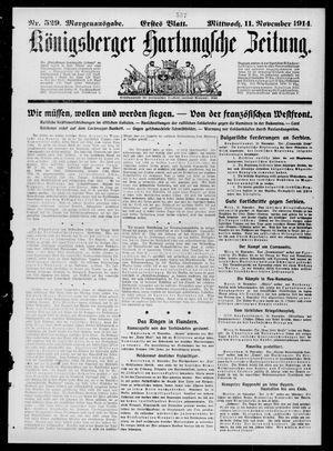 Königsberger Hartungsche Zeitung vom 11.11.1914