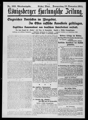 Königsberger Hartungsche Zeitung vom 12.11.1914