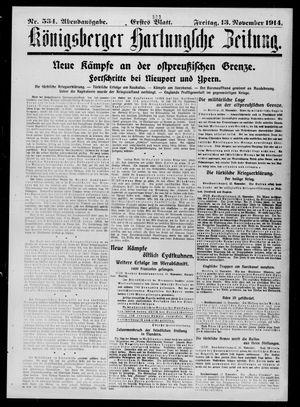 Königsberger Hartungsche Zeitung vom 13.11.1914