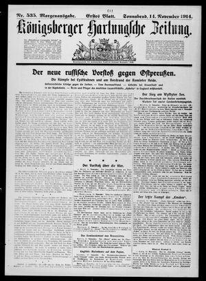Königsberger Hartungsche Zeitung on Nov 14, 1914