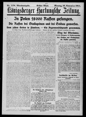 Königsberger Hartungsche Zeitung vom 16.11.1914