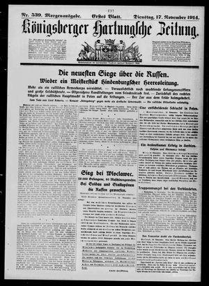 Königsberger Hartungsche Zeitung vom 17.11.1914