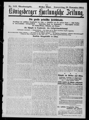 Königsberger Hartungsche Zeitung vom 19.11.1914