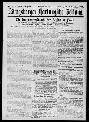 Königsberger Hartungsche Zeitung vom 20.11.1914