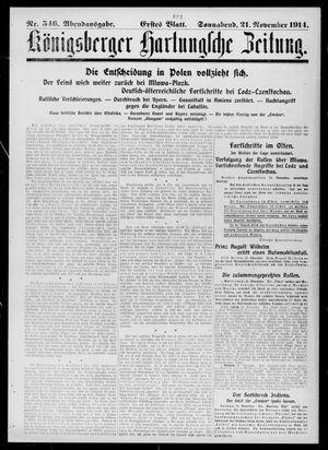 Königsberger Hartungsche Zeitung vom 21.11.1914