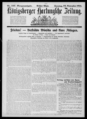 Königsberger Hartungsche Zeitung vom 22.11.1914