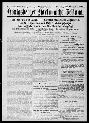 Königsberger Hartungsche Zeitung vom 23.11.1914