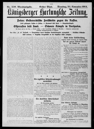 Königsberger Hartungsche Zeitung vom 24.11.1914