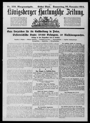 Königsberger Hartungsche Zeitung vom 26.11.1914