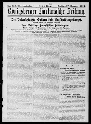 Königsberger Hartungsche Zeitung on Nov 27, 1914