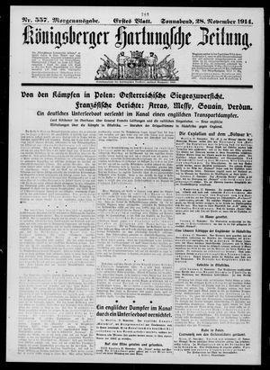 Königsberger Hartungsche Zeitung vom 28.11.1914