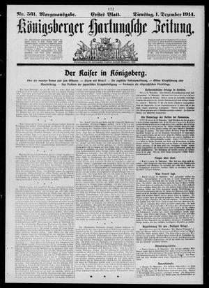 Königsberger Hartungsche Zeitung vom 01.12.1914