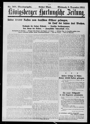 Königsberger Hartungsche Zeitung vom 02.12.1914