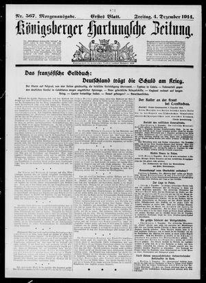 Königsberger Hartungsche Zeitung vom 04.12.1914