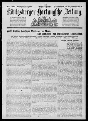 Königsberger Hartungsche Zeitung vom 05.12.1914