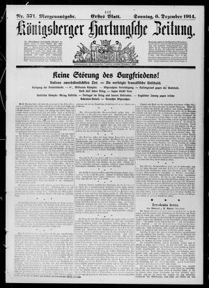 Königsberger Hartungsche Zeitung on Dec 6, 1914