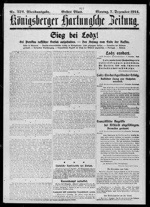 Königsberger Hartungsche Zeitung vom 07.12.1914
