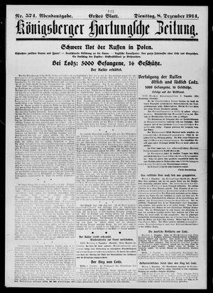 Königsberger Hartungsche Zeitung vom 08.12.1914