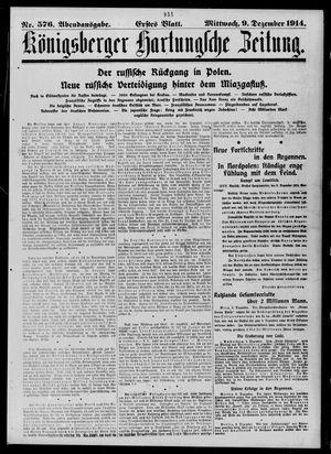 Königsberger Hartungsche Zeitung vom 09.12.1914