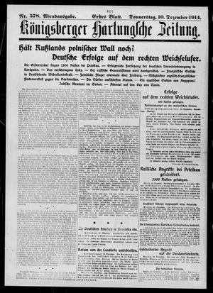 Königsberger Hartungsche Zeitung on Dec 10, 1914
