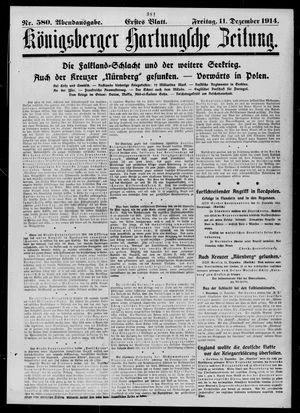 Königsberger Hartungsche Zeitung vom 11.12.1914