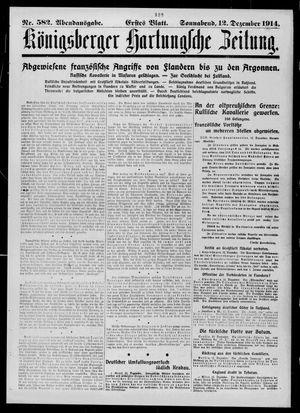 Königsberger Hartungsche Zeitung vom 12.12.1914