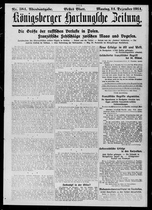 Königsberger Hartungsche Zeitung vom 14.12.1914