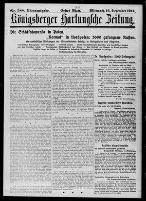 Königsberger Hartungsche Zeitung vom 16.12.1914