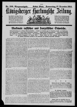 Königsberger Hartungsche Zeitung vom 17.12.1914