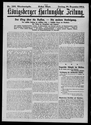 Königsberger Hartungsche Zeitung vom 18.12.1914