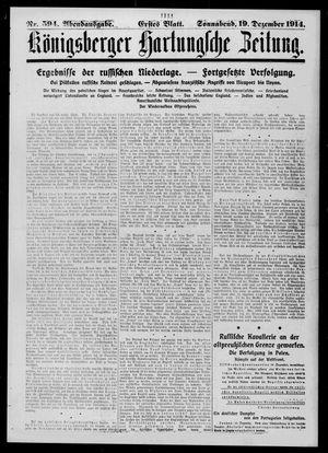 Königsberger Hartungsche Zeitung vom 19.12.1914