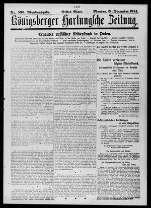 Königsberger Hartungsche Zeitung vom 21.12.1914
