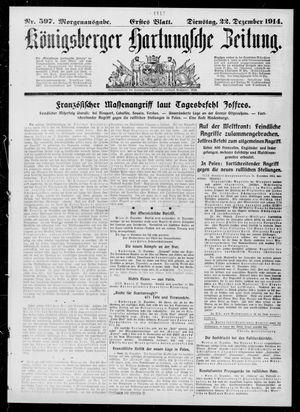 Königsberger Hartungsche Zeitung vom 22.12.1914