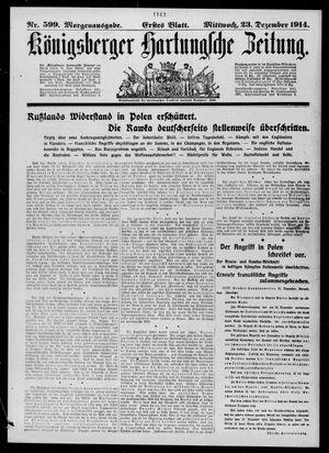 Königsberger Hartungsche Zeitung vom 23.12.1914