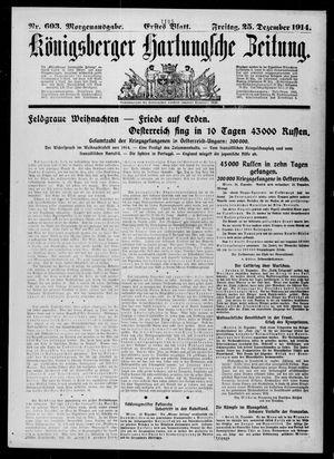 Königsberger Hartungsche Zeitung vom 25.12.1914
