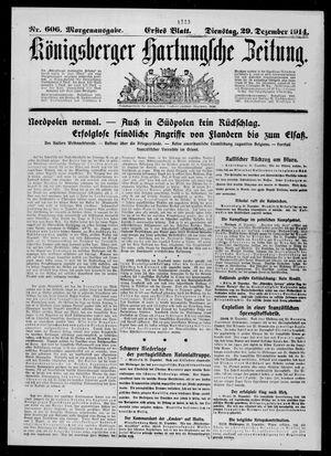 Königsberger Hartungsche Zeitung vom 29.12.1914