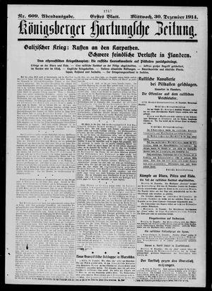 Königsberger Hartungsche Zeitung vom 30.12.1914
