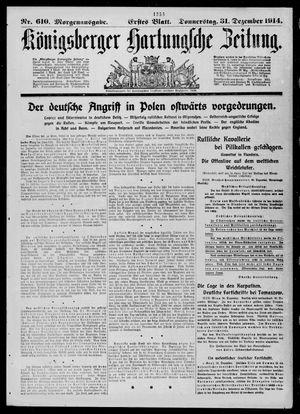 Königsberger Hartungsche Zeitung vom 31.12.1914
