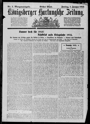 Königsberger Hartungsche Zeitung vom 01.01.1915