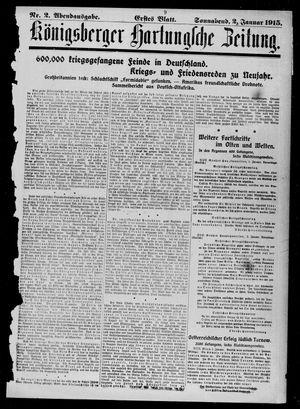 Königsberger Hartungsche Zeitung vom 02.01.1915