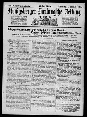 Königsberger Hartungsche Zeitung vom 03.01.1915