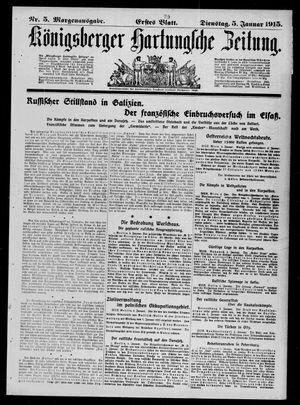 Königsberger Hartungsche Zeitung vom 05.01.1915
