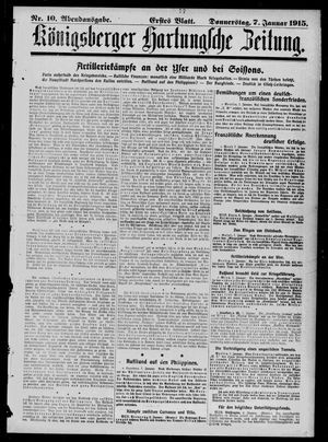 Königsberger Hartungsche Zeitung vom 07.01.1915