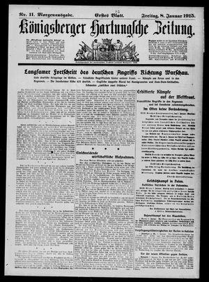 Königsberger Hartungsche Zeitung vom 08.01.1915