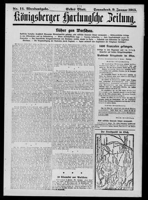 Königsberger Hartungsche Zeitung on Jan 9, 1915