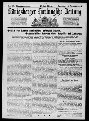 Königsberger Hartungsche Zeitung vom 10.01.1915