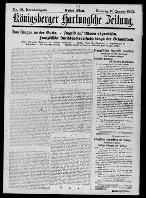 Königsberger Hartungsche Zeitung vom 11.01.1915